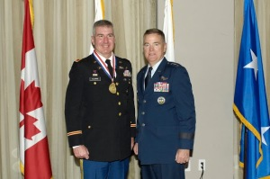 Colonel Frederick S. Clarke US Army - Missile Defense Division Chief, US Northern Command (left)