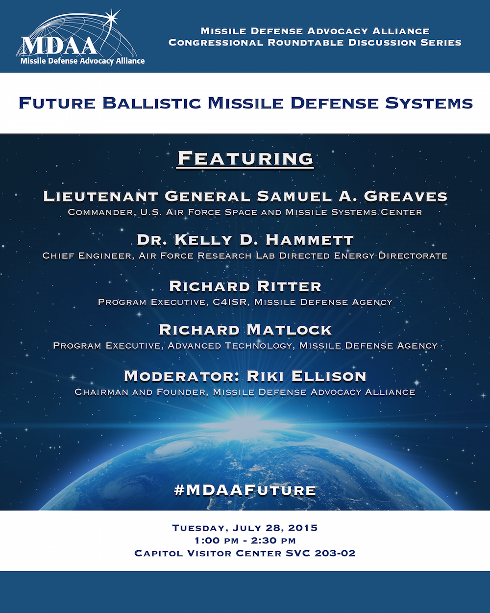 mdaa  Missile Defense Advocacy Alliance » MDAA Congressional Roundtable ...