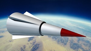 An artist's rendition of the DF-ZF, China's hypersonic missile that is currently in the testing phase of development