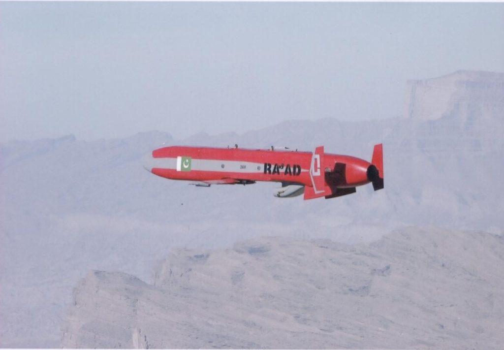 Flight test of Pakistan's Ra'ad cruise missile.