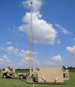 Deployed IBCS engagement operations center shelter