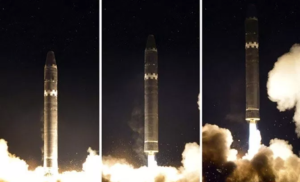 The first successful test of the Hwasong-15 on November 29, 2017.